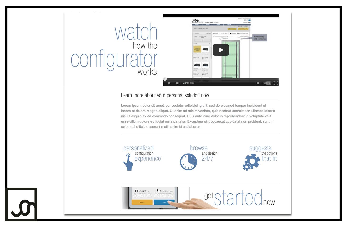 Configurator Landing Page